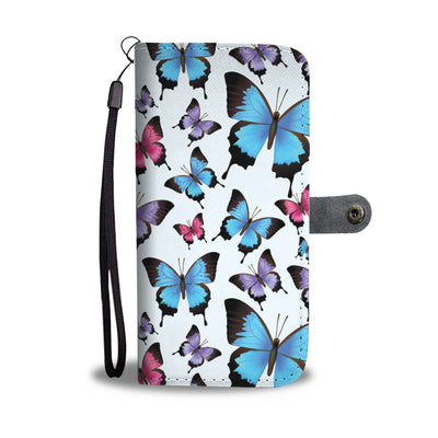 Butterfly Print Cell Phone Wallet Case