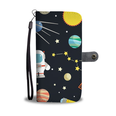 Outer Space Print Cell Phone Wallet Case
