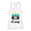 oh snap - Ladies Racerback Photographer Tank Top Women Photography - 5 colors available - PLUS Size XS-2XL MADE IN THE USA