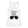 Beach Babe Lips - Ladies Racerback Tank Top Women - 5 colors available - PLUS Size XS-2XL MADE IN THE USA