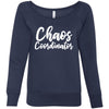 Chaos Coordinator - Bella + Canvas - Women's Long Sleeve Sponge Fleece Wideneck Mom Sweatshirt 6 Colors Available Size S-2XL - MADE IN THE USA