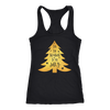 Tis the Season to be Jolly - Gold Christmas Tree - Ladies Racerback Tank Top Women - 7 colors available - PLUS Size XS-2XL MADE IN THE USA