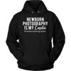 Newborn Photography is my Cardio - Unisex Pull-over Hoodie - 9 Colors AVAILABLE Plus Size: S-5XL - MADE IN THE USA