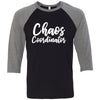 Chaos Coordinator - Unisex Three-Quarter Sleeve Baseball Mom T-Shirt - Bella & Canvas - 8 Colors Available Plus Size XS-2XL - MADE IN THE USA