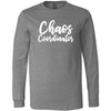 Chaos Coordinator - Canvas Tee LONG SLEEVE Mom T-shirt - 6 Colors AVAILABLE Plus Size: S-2XL - MADE IN THE USA