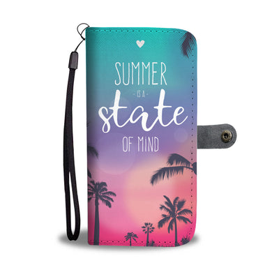 Summer is a State of Mind Tropical Cell Phone Wallet Case