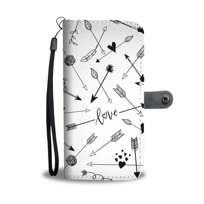 Love Arrows Cell Phone Wallet Case