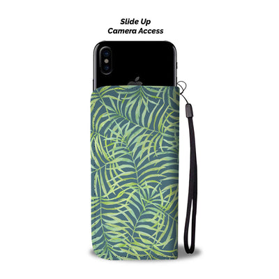Tropical Palm Trees Cell Phone Wallet Case