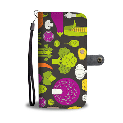 Colorful Veggies Cell Phone Wallet Case