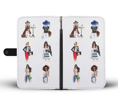 Ladies of Fashion Cell Phone Wallet Case