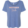 Mother of the Bride - (Pink Rose) Bella Brand Ladies Slouchy Mom Tee Feminine Women T-shirt - 6 colors available PLUS Size S-2XL MADE IN THE USA Regular price