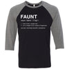 FAUNT - Unisex Three-Quarter Sleeve Baseball T-Shirt - Bella & Canvas - 8 Colors Available Plus Size XS-2XL - MADE IN THE USA -