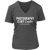 Photography is my Cardio - Womens V-Neck T-shirt Tee 7 Colors Available Plus Size S-4XL - MADE IN THE USA