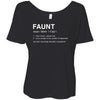 Faunt - Bella Brand Ladies Slouchy Tee Feminine Women T-shirt - 7 colors available PLUS Size S-2XL MADE IN THE USA