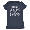 Hunting Fishing and Country Music O-neck Women TriBlend T-shirt - 5 colors available PLUS Size S-2XL MADE IN THE USA