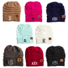 Personalized Monogram Adult Beanies - 8 Colors