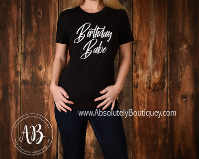 Birthday Babe - O-neck Women TriBlend T-shirt Tee - 5 colors available PLUS Size S-2XL MADE IN THE USA