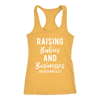 Raising Babies and Businesses Colossians 3:23 - Ladies Christian Racerback Tank Top Women - 13 colors available - PLUS Size XS-2XL MADE IN THE USA