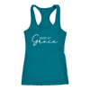 Saved by Grace - Christian Ladies Racerback Tank Top Women - 12 colors available - PLUS Size XS-2XL MADE IN THE USA