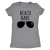 Beach Babe Lips - O-neck Women TriBlend T-shirt Tee - 3 colors available PLUS Size S-2XL MADE IN THE USA
