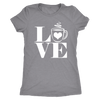 LOVE Coffee - O-neck Women TriBlend T-shirt Tee - 5 colors available PLUS Size S-2XL MADE IN THE USA
