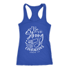 Be Strong and Courageous Scripture - Ladies Racerback Christian Tank Top Women - 5 colors available - PLUS Size XS-2XL MADE IN THE USA