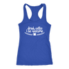 Drink Coffee and Be Awesome - Ladies Racerback Tank Top Women - 5 colors available - PLUS Size XS-2XL MADE IN THE USA