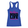 Mother Hood Life - Ladies Racerback Mom Tank Top Women - 4 colors available - PLUS Size XS-2XL MADE IN THE USA