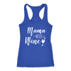 Mama needs some Wine - Ladies Racerback Mom Tank Top Women - 5 colors available - PLUS Size XS-2XL MADE IN THE USA