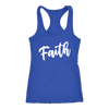 FAITH - Ladies Christian Racerback Tank Top Women - 5 colors available - PLUS Size XS-2XL MADE IN THE USA