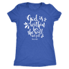 God is within her - O-neck Women TriBlend  Bible T-shirt Christian Tee - 5 colors available PLUS Size S-2XL MADE IN THE USA