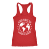 Coffee makes the world go round - Ladies Racerback Tank Top Women - 5 colors available - PLUS Size XS-2XL MADE IN THE USA