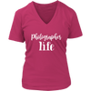 Photographer Life Ladies V-neck T-shirt 7-colors Plus Size Available S-4XL - MADE IN THE USA