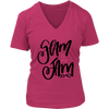 Glam is my Jam - Ladies V-neck Tee Women T-shirt - 5 colors available PLUS Size S-4XL Made in the USA