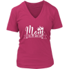Mom a title just above queen crown - Womens V-Neck T-shirt Mom Tee 7 Colors Available Plus Size S-4XL - MADE IN THE USA