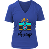 Oh Snap - Photographer Camera Photography Ladies V-neck Tee Womens T-shirt - PLUS Size S-4XL MADE IN THE USA