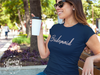 Bridesmaid (Pink Rose) Tee O-neck Women TriBlend T-shirt - 5 colors available PLUS Size S-2XL MADE IN THE USA