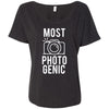 MOST PHOTOGENIC - Photography - Bella Brand Ladies Slouchy Tee Feminine Women T-shirt - 7 colors available PLUS Size S-2XL MADE IN THE USA