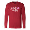Lipstick Hustler - Canvas Tee LONG SLEEVE T-shirt OR Unisex Pull-over HOODIE - 9 Colors AVAILABLE Plus Size: XS-5XL - MADE IN THE USA