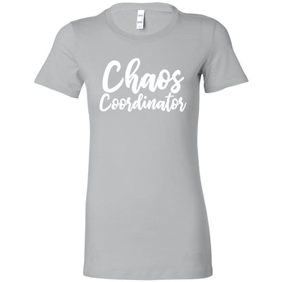 Chaos Coordinator - Bella + Canvas - Women's Short Sleeve Mom Tee Feminine T-shirt - 17 Colors Available Plus Size S-2XL - MADE IN THE USA