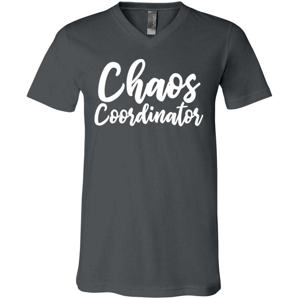 78fa379b7f26b Chaos Coordinator - Bella & Canvas Unisex V-neck Jersey Mom T-Shirt - 12  Colors Available Plus Size XS-3XL - MADE IN THE USA