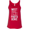 MOST PHOTOGENIC - Photography - Ladies Relaxed Jersey Tank Top Women - Bella & Canvas - 8 colors available - PLUS Size XS-2XL MADE IN THE USA