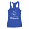 Wife Mom Photographer - Photography - Ladies Racerback Tank Top Women - 5 colors available - PLUS Size XS-2XL MADE IN THE USA