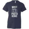 MOST PHOTOGENIC - Photography - Bella & Canvas - Kids Short Sleeve Crewneck Jersey Tee Youth T-shirt - 6 colors available Size S/M/L MADE IN THE USA