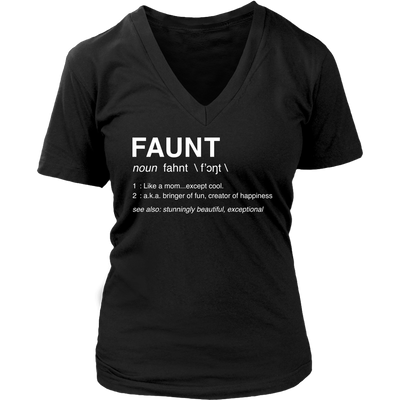 FAUNT - Ladies V-neck Tee Women T-shirt - 7 colors available PLUS Size S-4XL MADE IN THE USA