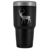 Big Buck Deer 30 oz Travel Tumbler | Etched / Engraved Stainless Steel Mug Hot/Cold Cup - 12 Colors Available