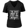 The bags under my eyes are designer - Womens V-Neck T-shirt Mom Tee 7 Colors Available Plus Size S-4XL - MADE IN THE USA