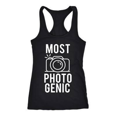 Most Photogenic - Photography - Ladies Racerback - Mom Tank Top Women - 5 colors available - PLUS Size XS-2XL MADE IN THE USA