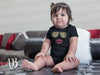 Leopard Sunglasses & Red Lipstick Lips Kiss Baby Infant Onesie - 10 Colors AVAILABLE Size: Newborn - 24M - MADE IN THE USA