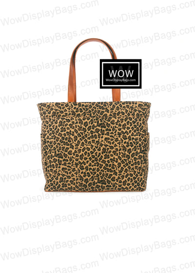 WOW Display Bag | Leopard Print Canvas Presentation Tote Bag